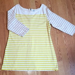 Yellow/beige striped maternity dress